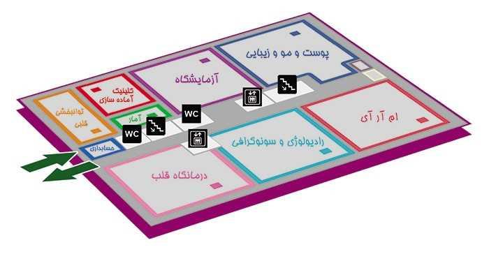 بیمارستان بقیة الله تهران طبقه همکف 1-