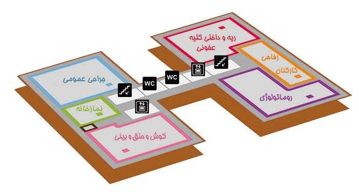 بیمارستان بقیة الله تهران طبقه 2