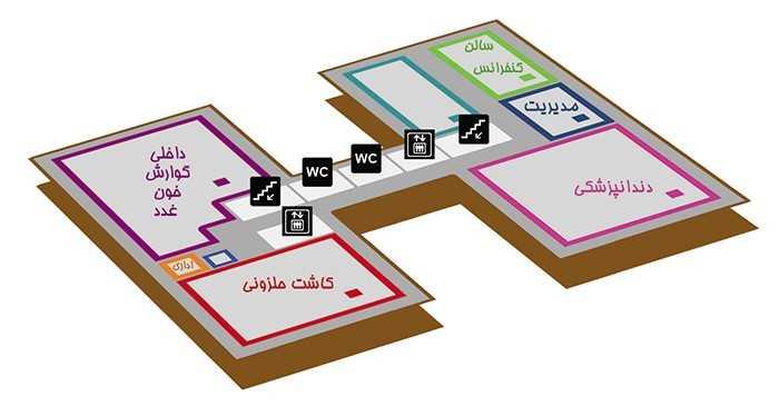 بیمارستان بقیة الله تهران طبقه 3